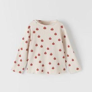 NWT 9-12 month Zara apple shirt